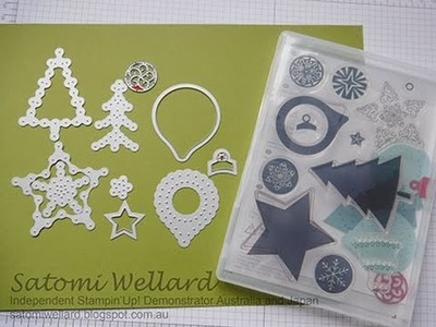 Stampin'Up! How to use Festive Stitching Dies and Festive Season Stamp set
