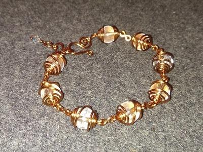 Wire Jewelry Lessons - DIY - handmade jewelry tutorials - How to make easy bracelet