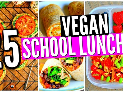 25 VEGAN School Lunch Ideas! DIY Healthy Snacks!