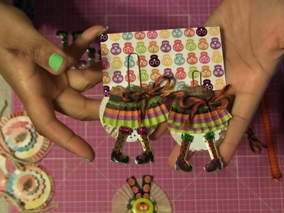 #29 Let's Make Halloween DIY Witch Legs Paper Clip