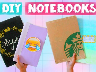 4 DIY Notebooks for School! | Easy DIY School Supplies