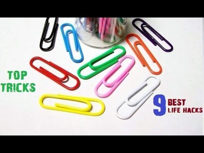 9 Best Life Hacks with Paper Clip will change your life forever