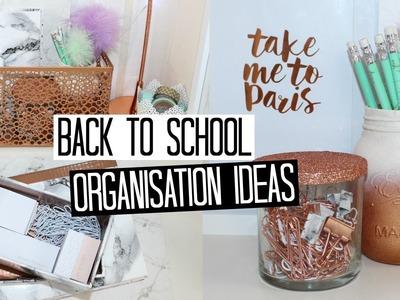 Back to School DIY Organisation Ideas - Copper & Marble!