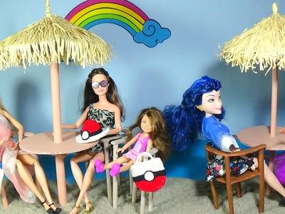 Beach umbrella for doll DIY For Dolls Beach umbrella and chairs