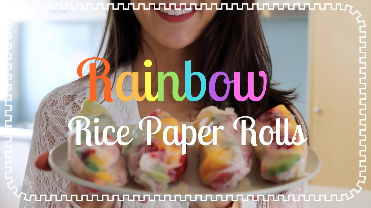 BRAINFOOD: Rainbow Rice Paper Rolls! (VEGAN Friendly)
