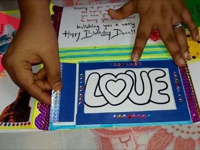 Creative Birthday Card : Paper and Handmade Beautiful Birthday Card by Artist PUNAM