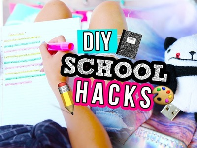 DIY BACK TO SCHOOL HACKS 2016 | LaurDIY