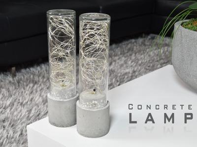 DIY Concrete Lamp | LED String Lights
