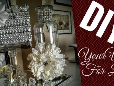 DIY Design a Display Vase. Centerpiece. Cosmetics Holder