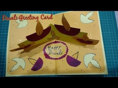 DIY Diwali Greeting Card Making Idea | Diwali Popup Card | How To | Craftlas