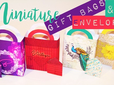 DIY Doll Crafts | Create Mini Gift Bags with Mini Envelopes and Mini Gift Cards