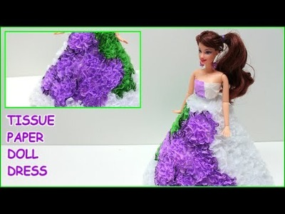 "DIY Doll Dress ""Grapes"" with Tissue Paper- Doll Dress Fun"