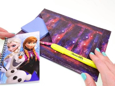 DIY Duck Tape Galaxy Notebook School Supplies | Back To School Crafts DCTC