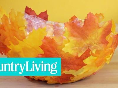 DIY Fall Leaf Bowl | Country Living