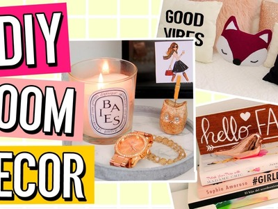 DIY fall ROOM DECOR WITHOUT using ORANGE! Make your room.dorm COZY!