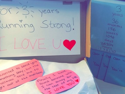 DIY: gift to your lover   Running strong shoebox and special anniversary art gift!!