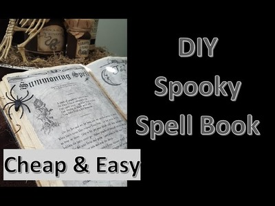 DIY Halloween Decor: Spooky Spell Book