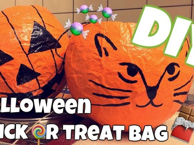 DIY Halloween trick or treat bag - Youtube autumn crafts special
