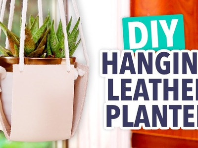 DIY Hanging Leather Planter - HGTV Handmade