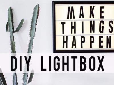 DIY LED LIGHTBOX HACK | Room Decor | ANN LE