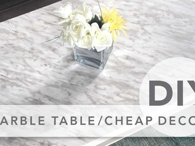DIY marble table & cheap room decor