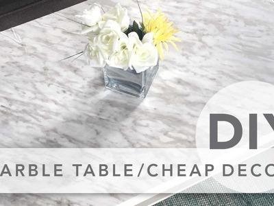 DIY marble table & cheap room decor