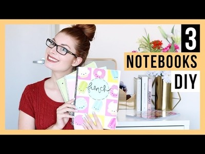 DIY - NOTEBOOKS FOR BACK TO SCHOOL | LOVE, LAUGH & SING