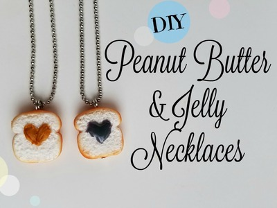 DIY Peanut Butter and Jelly Necklaces- Friendship Jewelry