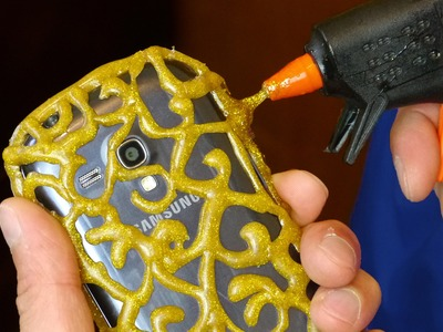 DIY PHONE CASE  Life Hacks - Hot Glue Craft