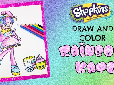 DIY Rainbow Kate Shoppie Doll Drawing Speed Drawing and Color