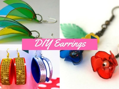 DIY Recycled Crafts Ideas Plastic Bottle Jewelry - Earrings