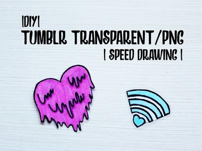 |DIY| Tumblr transparent drawing! #1 | HelloCris |