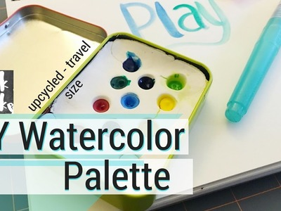 DIY Watercolor Palette - so tiny - easy to make and carry