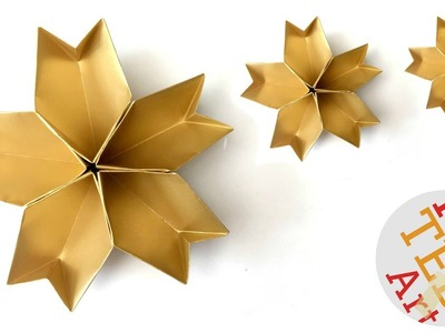 Easy 3D Paper Star Bowl - Origami Star - Party Decor