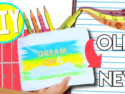 Easy Last Minute DIY School Supplies! Turn OLD School Supplies Into NEW!
