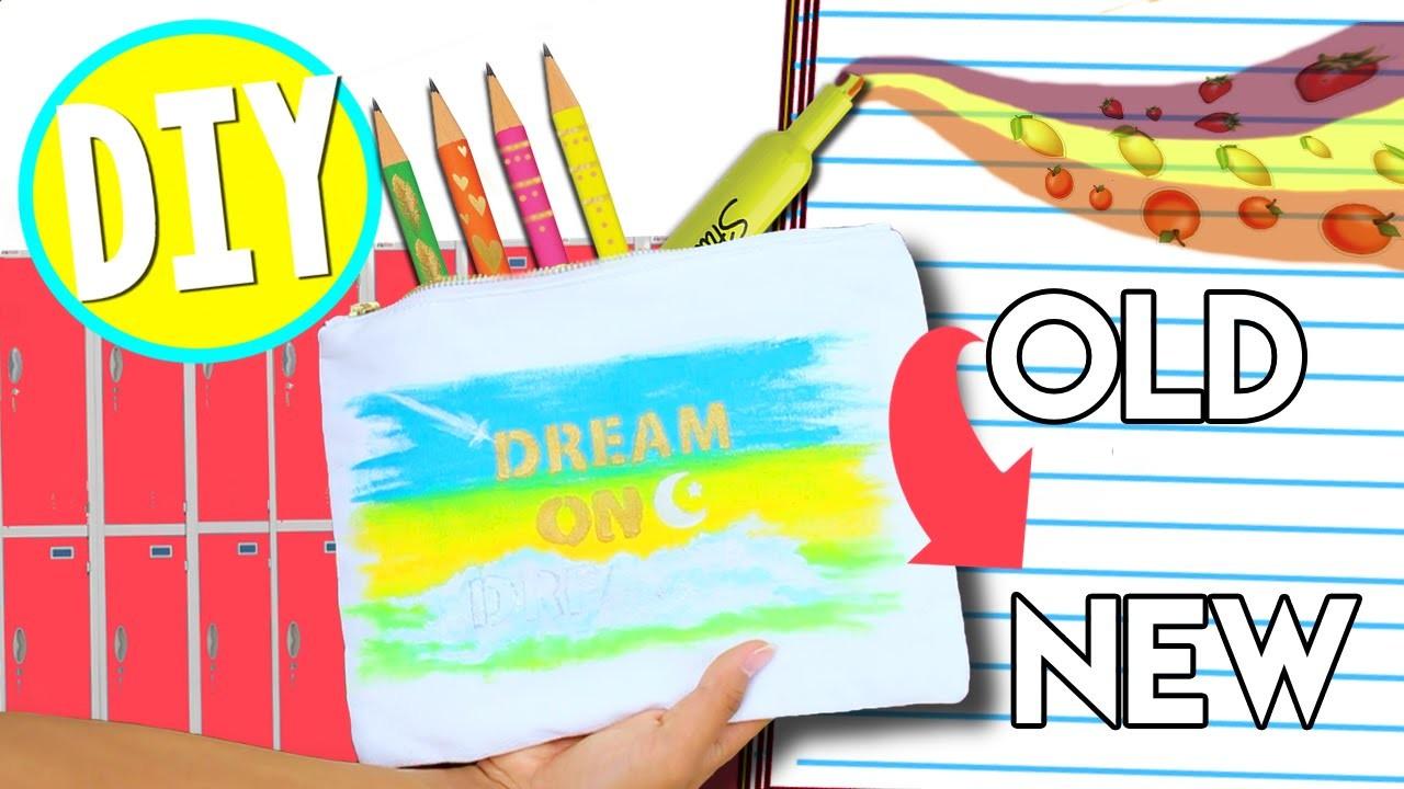 Easy Last Minute DIY School Supplies! Turn OLD School Supplies Into NEW!