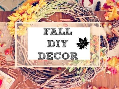 FALL DIY DECOR! || CUTE AND COZY FALL DECOR!!!