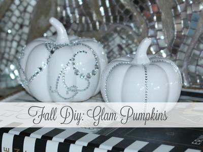Fall DIY: Glam Pumpkins