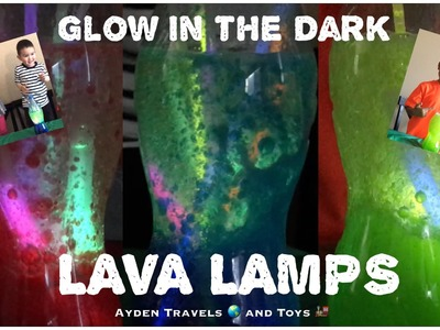 FUN DIY Glow-in-the-dark LAVA LAMPS | AWESOME COOL Kids homemade project