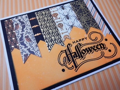 Halloween Card Series 2016   Day 4 of 13   Using Patterned Paper