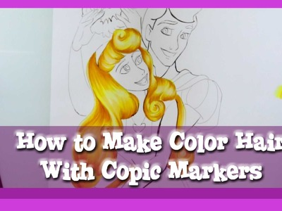 How to COLOR HAIR with COPIC Markers- @dramaticparrot
