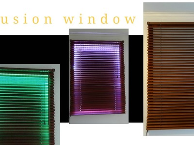 How to create an illusion window with LED and blinds - DIY