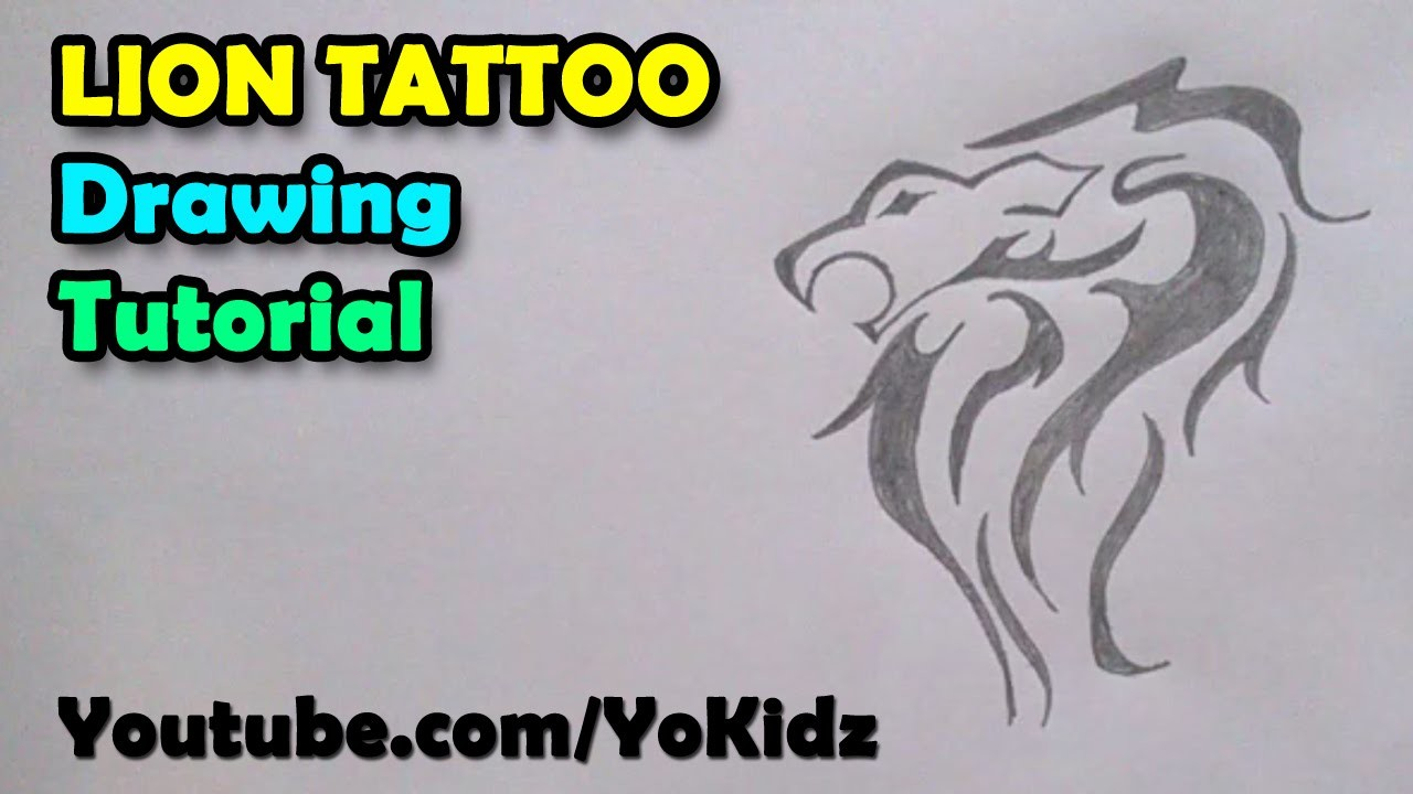 How To Draw Tattoos Lion Tattoo On Paper