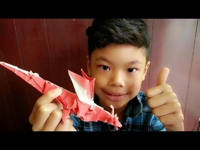 How to make an orgami fiery dragon (Kade Chan) Part 2 Troy  Tawthong - Origami Tutorails