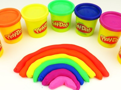 How To Make Colors Play Doh Rainbow Play Dough easy DIY Learn Colors Toy Childrenfunfactory