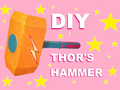 How to Make Paper THOR Hammer - Easy Paper Hammer Tutorials