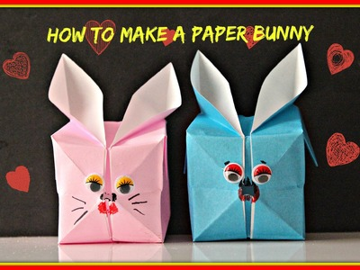 #HowTo# Make an Easy Paper Bunny #Kirigami# Style  (For Kids)