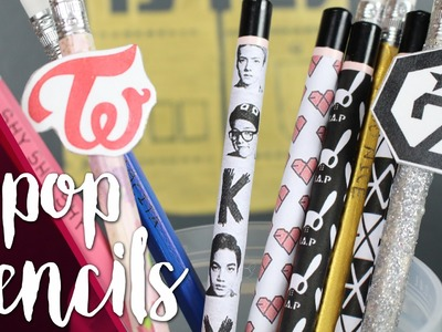 KPOP DIY: Customize your own pencils | KfreakEnglish |