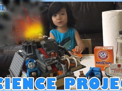 Lego VOLCANO SCIENCE Project DIY Volcano ERUPTION for Kids How to Make LAVA Disney Cars Mater