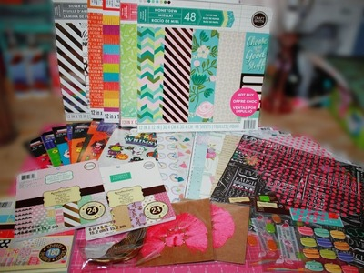 Michael's Haul!! GREAT DEALS on Scrapbook Paper! $5 Hot Buys and 50% off ends the 17th!!